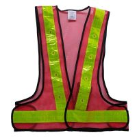 LED Safety Vest with 16 LED Lights