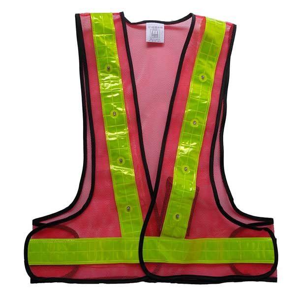LED Safety Vest with 16 LED Lights