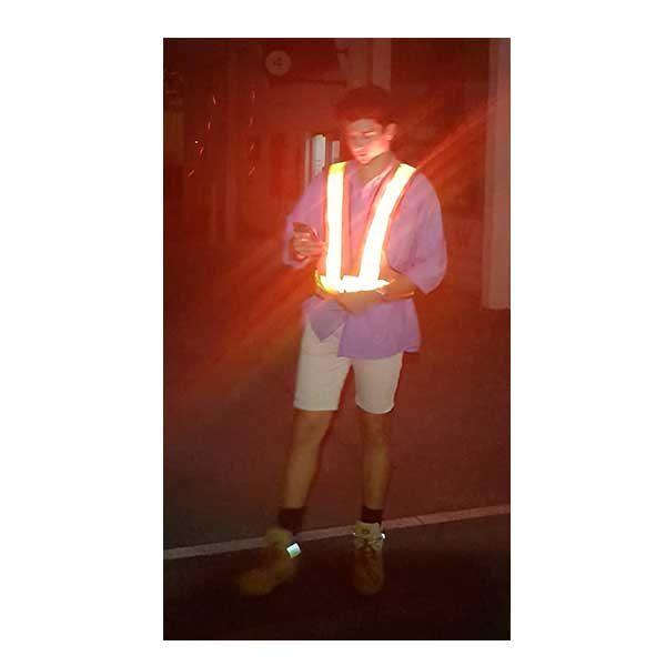 Safety Vest with 16 LED lights